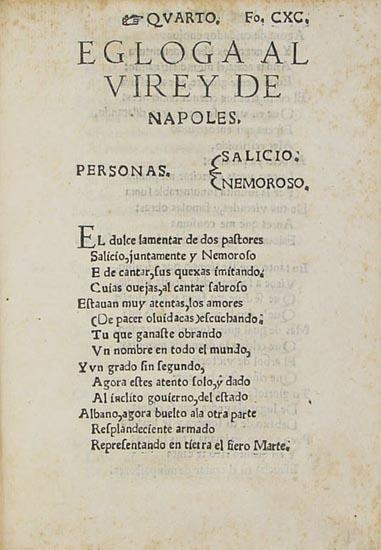 Egloga al Vierre de Nápoles