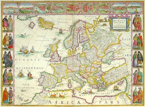 Antique_Map_Blaeu_Europe, cataluña en Francia