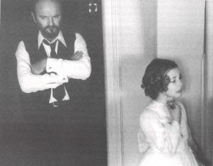 Omero Antonutti y Sonsoles Aranguren (rodaje de El sur, 1983)
