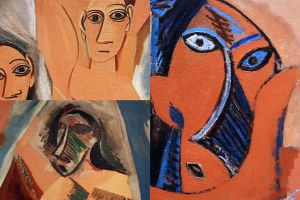 MOMA 03-2 Pablo Picasso Les Demoiselles d'Avignon Close Up
