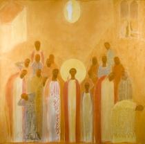 2Aquerreta-Cielo-Abierto-Boceto-retablo-Martirio-de-San-Esteban--2006-08--153-5x152-cm--pastel-sobre-papel-montbal--E.Z--iga-